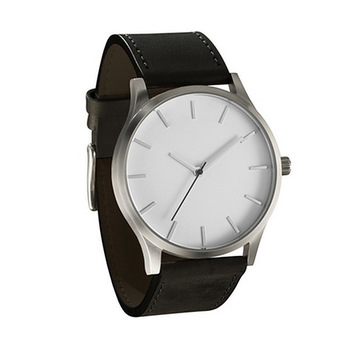 2021 NEW Luxury Brand Mens Watches Sport Watch Men's Clock Army Military Leather Quartz Wrist Watch Relogio Masculino - Black - White