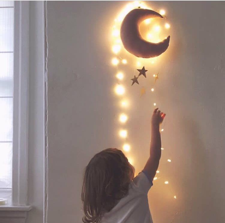 Schone Baby Mobile Baumwolle Mond Und Sterne Zelt Wand Hangen Dekor