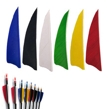 50pcs Arrow Feathers 4inch Shield Cut Archery Fletches Arrow Feathers Turkey Feather Hunting Arrow Accessories