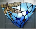 12 дюймов Тиффани средиземноморская Стрекоза настенная лампа ресторан коридор гостиная кровать-освещение