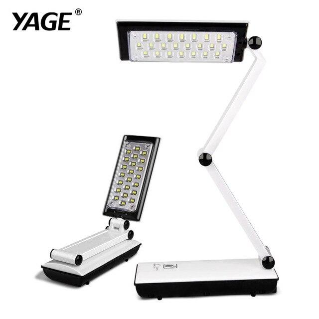 2016 YAGE 3979 Table Lamp Night Light Led Desk Reading Books Usb Foldable 3-layer Body Revolvable Holder 2-mode Dimming