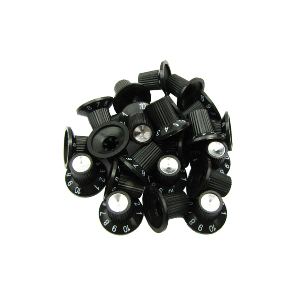 buy musiclily plastic skirted style control amp effect pedal knobs for fender. Black Bedroom Furniture Sets. Home Design Ideas