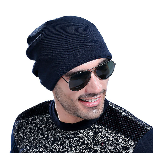 Hot Sale Men Warm Hats Beanie Hat Winter Knitted Fur Sports Outdoor Hat Autumn Winter Fashion Brand Hats Unisex Caps M1606