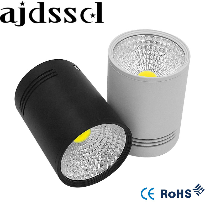 <font><b>LED</b></font> downlight Surface Mounted Dimmable <font><b>LED</b></font> Downlight COB 5W 7W <font><b>LED</b></font> Down Lights AC110V/220V Ceiling <font><b>lamp</b></font> White/Black Housing Colo
