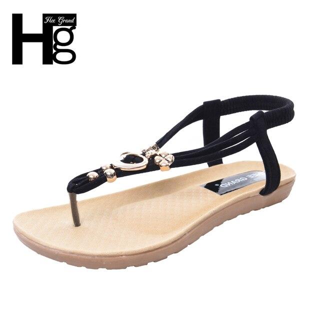 6cff6f47712a HEE GRAND 2017 Summer Heart Women Flip Flops Leisure PU Leather Women  Sandals for Narrow Foot