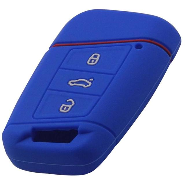 jingyuqin Silicone key fob case holder for VW Skoda Superb Magotan Passat B8 A7 Golf Smart Remote Protector Skin Cover