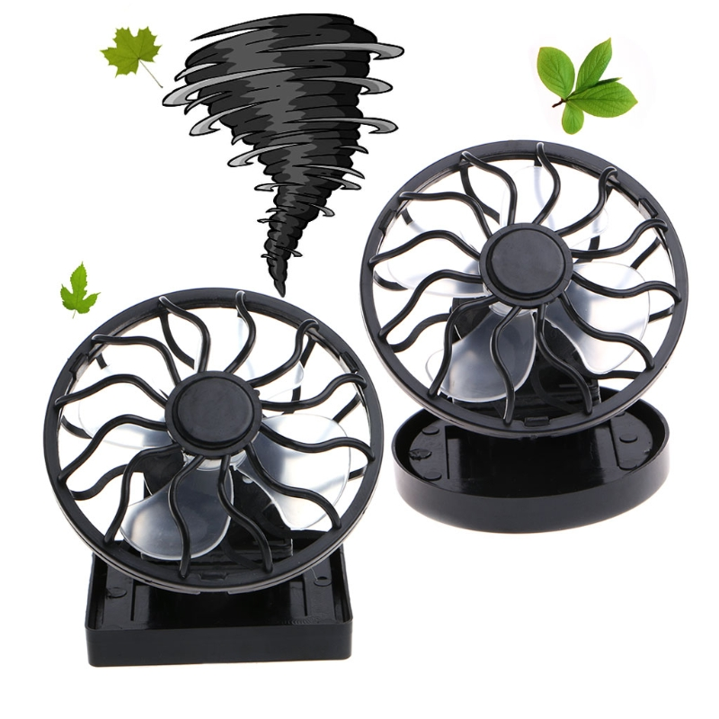 Free_on Mini Portable Clip-On Solar Panel Powered Cooling Fan For Travel Camping Fishing