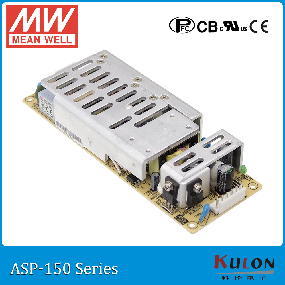 цена на Original Meanwell ASP-150-24 single output 24V 6.3A 150W PF>0.95 PCB type MEAN WELL ASP-150 with PFC function