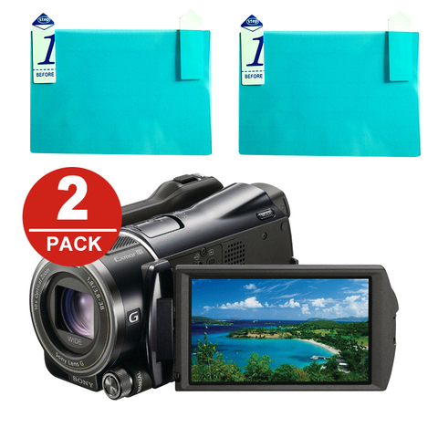 2x LCD Screen Protector Protection Film for Sony Canon 3.5 3.5-inch (3.5 type) Wide Screen Camcorders Pakistan
