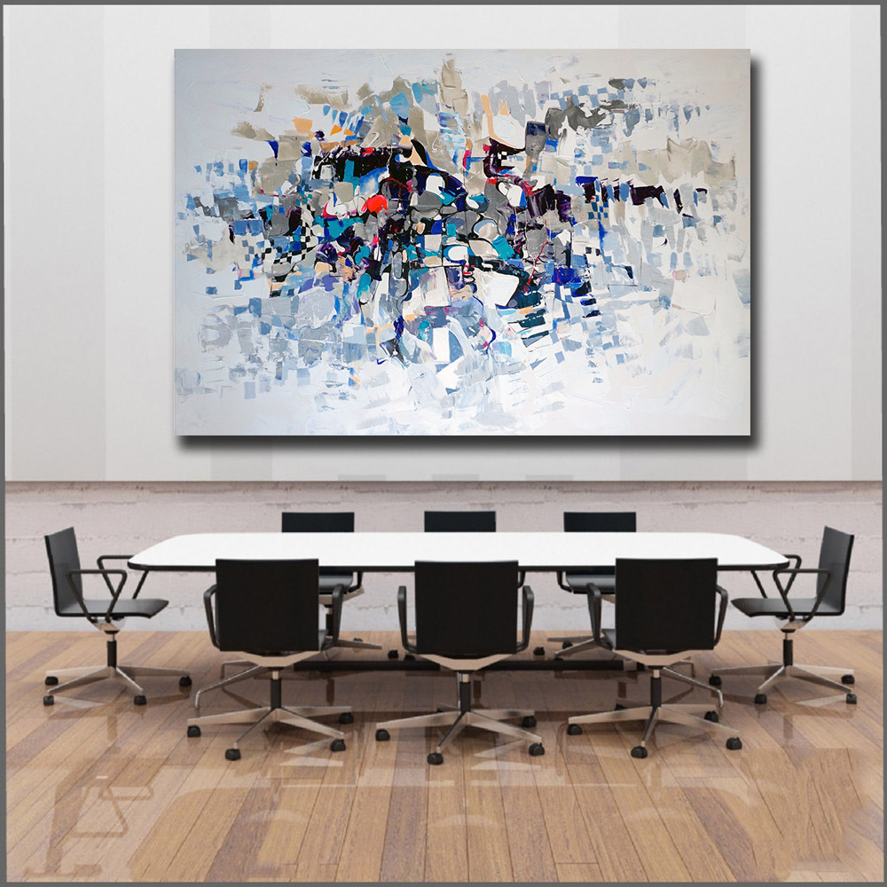 Large size oil painting printing beautiful color abstract - Beautiful wall colors for living room ...