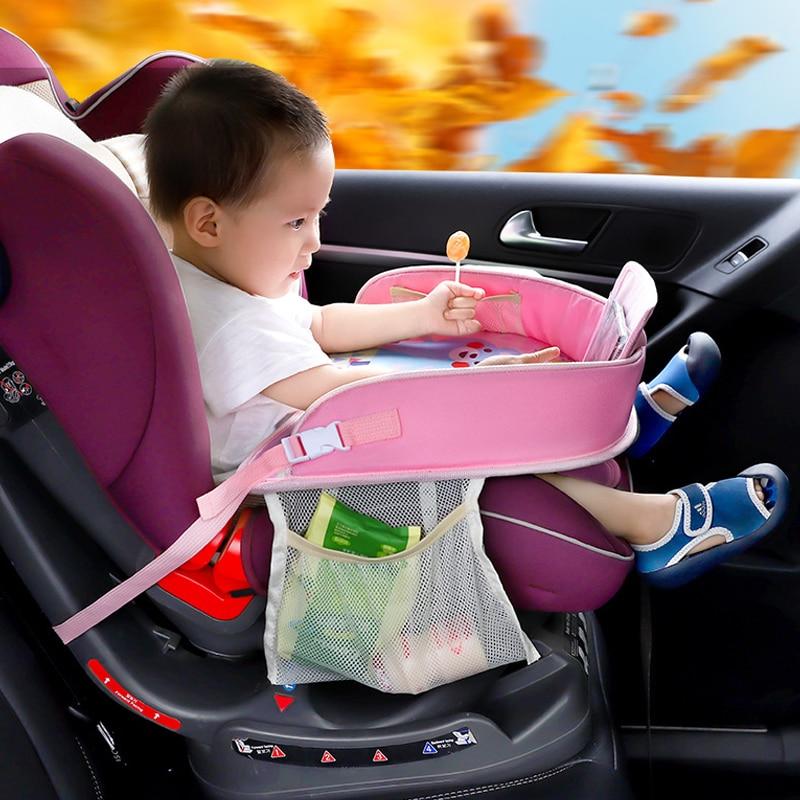 Auto Child Seat Storage Mat Oxford Kid Adjustable Food Milk Drink Organizer Stowing Tidying Phone Holder Interior Accessories