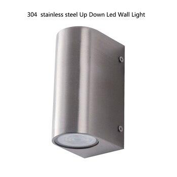 LED סוגר אור up down Led מנורת קיר נירוסטה פמוט קיר אורות 10 W חיצוני פמוט קיר תאורת קיר אמנות מנורות