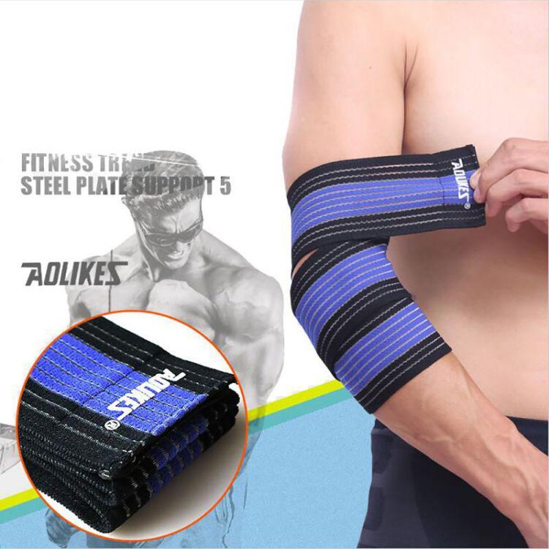 2017AOLIKES 7 Colors Belt Elastic Sports Bandage Wrist Knee Support Protection Wrap Brace Band Bandage Elbow Pad Length 70CM New