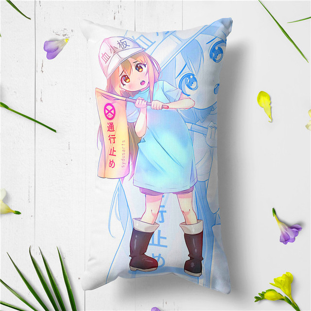 US $12 45 30% OFF|New Anime Cells at Work! Erythrocite Red Blood Cell and  blood platelet Plush Stuffed Doll Toy Cushion Pillow Cosplay Gifts-in