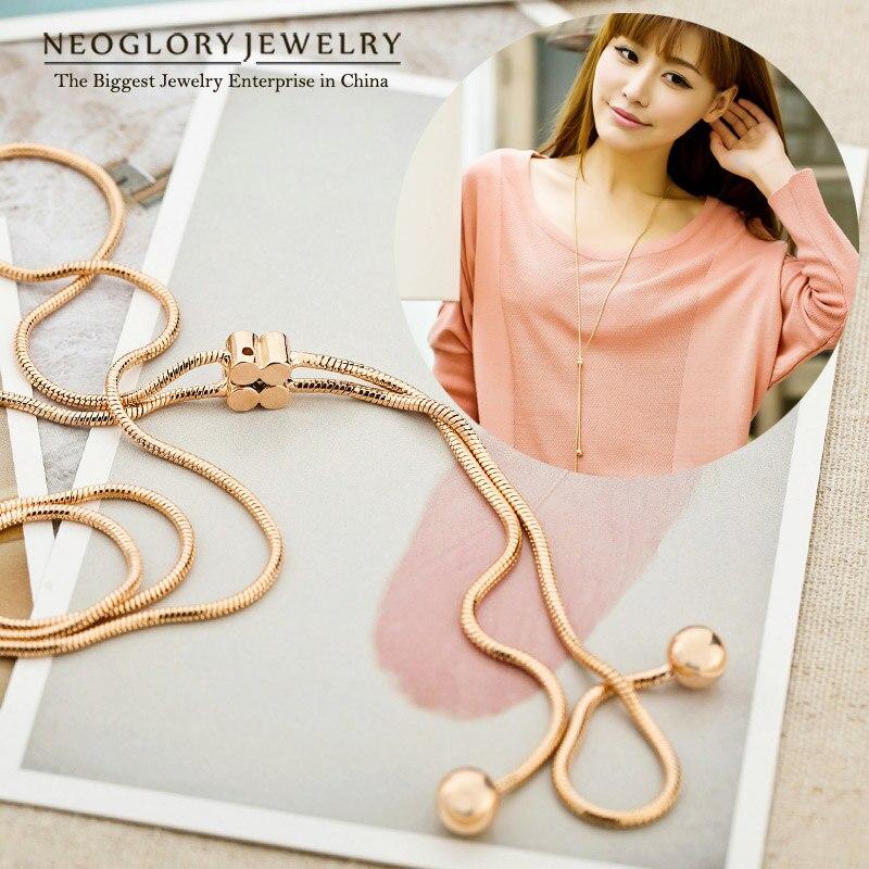 Neoglory Mode Panjang Boho Maxi Emas Kalung Liontin untuk Wanita - Perhiasan fashion - Foto 2