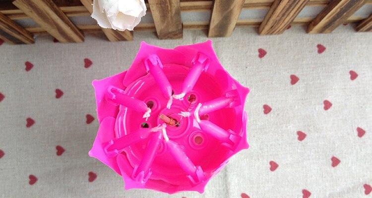 tienda online unids creativo cumpleaos rosado forma de loto flor de loto velas velas musicales para adultos nio fiesta de cumpleaos decoracin