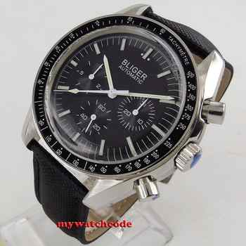 new 40mm bliger black dial week day multifunction Mechanical automatic mens watch P214 - DISCOUNT ITEM  31% OFF All Category