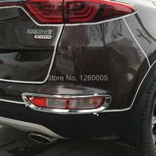 Fit for KIA Sportage 2016 2017 abs chrome rear fog light cover tail fog lamp hood trim not for car-styling Sportage EX