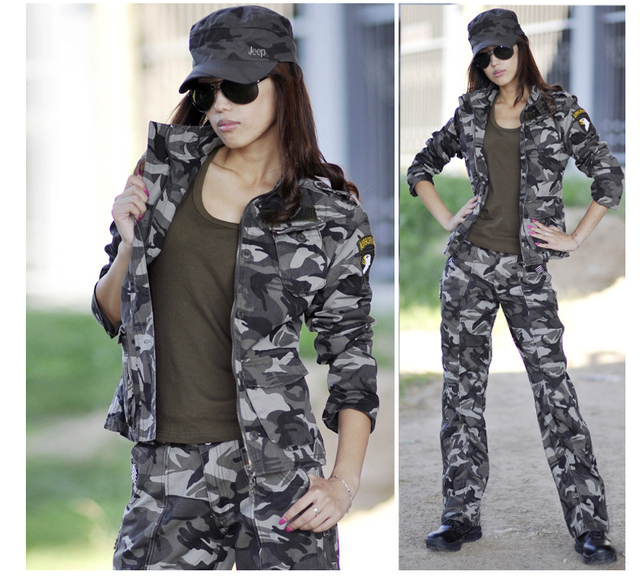 women us army 101st airborne camouflage military uniform suit jacket    pants cotton army sets outdoor tracksuits camp hike gear 7506889f2