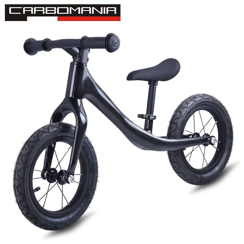 2018 vélo d'équilibre sans pédale 3 K carbone enfants Balance vélo pour 2 ~ 6 ans enfants vélo complet pour enfants vélo en carbone