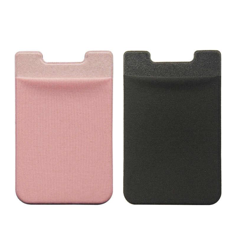 Phổ Đàn Hồi Lycra Điện Thoại Wallet Trường Hợp Với Chất Kết Dính Nhãn Dán Cho iPhone Xiaomi Huawei Samsung Tín Dụng ID Chủ Thẻ Pocket