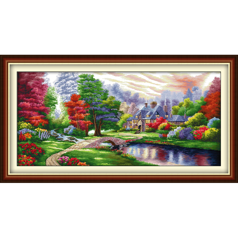 Everlasting love Christmas The Ambilight Ecological cotton Cross Stitch 11CT and 14CT Printed New store New