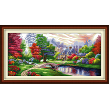 Everlasting love Christmas The Ambilight Ecological cotton Cross Stitch 11CT and 14CT Printed New store year sales promotion