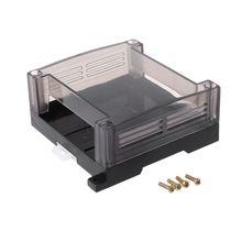Transparent Plastic PLC Industrial Control Box Panel PLC Enclousure Case DIY PCB Shell