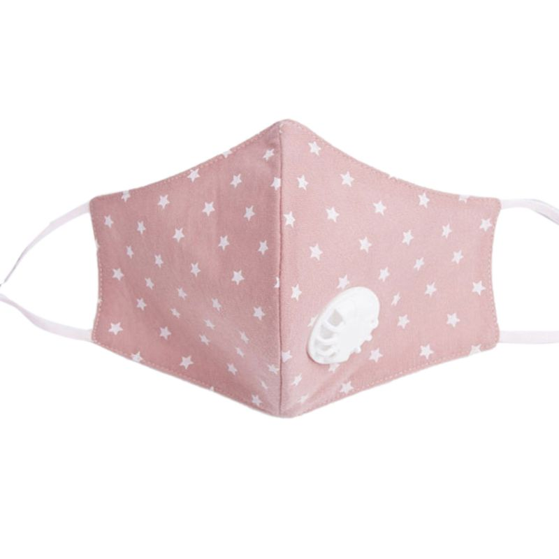 Women Unisex Cotton Winter Mouth Mask Filter Anti Pollution Star Printed Light Color Mouth-Muffle Respirator