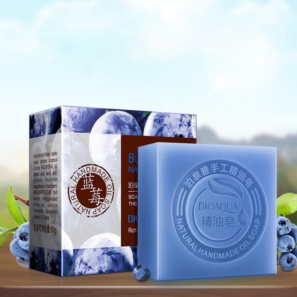 HobbyLane Bamboo Charcoal Matcha Lavender Handmade Soap Anti-Aging Deep Cleansing Moisturizing Nourishing Whitening Soap