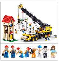 l767pcs City Series Machinery Cranes Building block set new engineering series 3D Construction Brick Legoings Toys