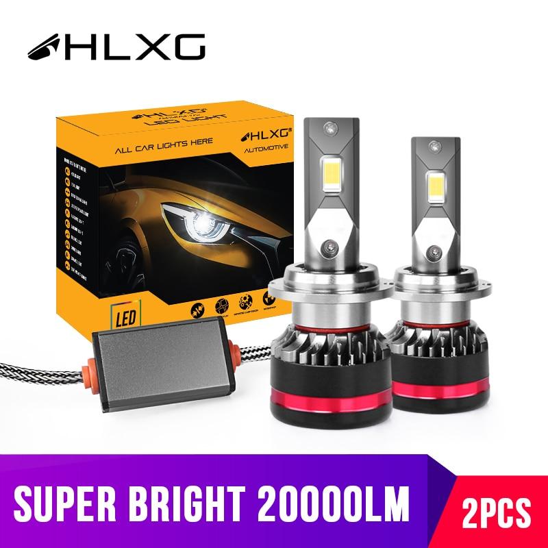 HLXG H7 LED H11 H8 9005 HB3 9006 HB4 Car headlights D2S LED D4S luces led