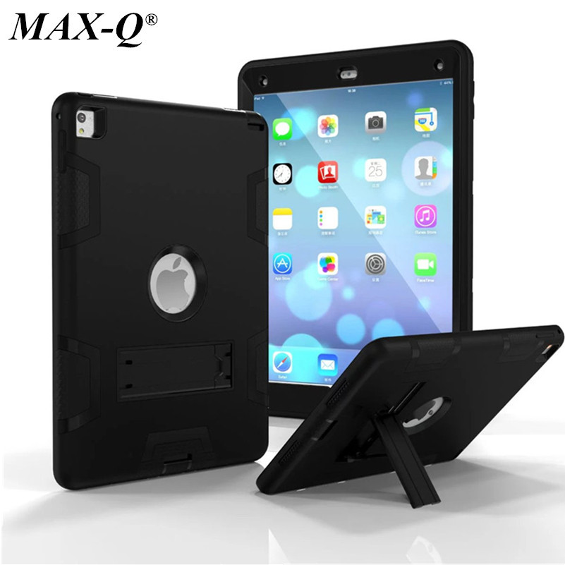 MAX-Q Case For Apple iPad Pro 9.7 Cover High Impact Resistant Hybrid Three Layer Heavy Duty Armor Defender Full Body Protector