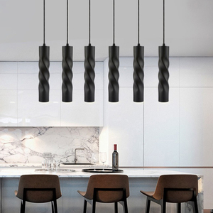Image 4 - Pendant Lamp dimmable Lights Hanging lamp Kitchen Island Dining Room Shop Bar Counter Decoration Cylinder Pipe Kitchen Lights