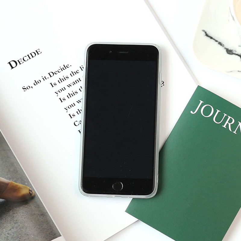 LOVECOM For iphone 6 6S 7 Plus 8 Plus Fashion ins Painting Graffiti Light Green  Marble Mobile Phone cases ... 4db0b18ec31d9