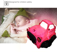 Novelty Pink Cartom Car Night Light Childrens Bedroom Nursery Night Lamp Mini Cloud Light Emitting Children Room Decor