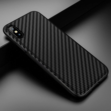 Чехол для телефона для iphone 11 pro Max 7 8 6 6s plus, мягкий однотонный черный защитный чехол из углеродного волокна для iphone X 5 5S, чехол
