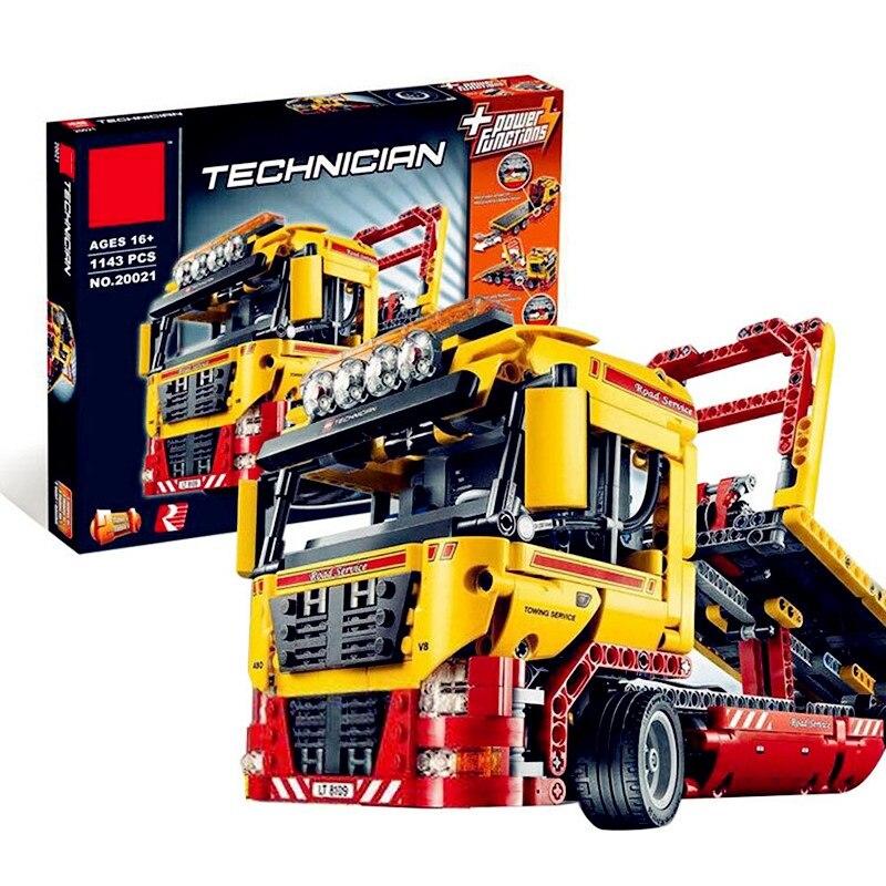 Technic Series 1143 pièces blocs de construction jouets pour enfants à plat camion briques jouet cadeaux Compatible Legoe Technic 8109