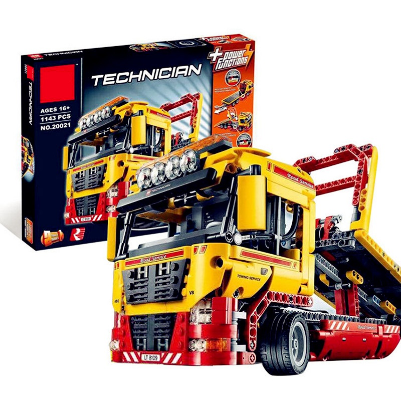 Compatible Technic Series 1143pcs Building Blocks Toys For Childrens Flatbed Truck Bricks Toy Gifts Compatible 8109