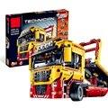 Technic Serie 1143 stücke Bausteine spielzeug für Kinder Pritsche Lkw Ziegel spielzeug geschenke Kompatibel 8109