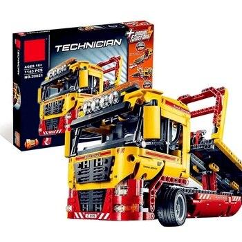 Technic série 1143 pièces blocs de construction compatibles Legoe jouets pour enfants à plat camion briques jouet cadeaux Compatible 8109
