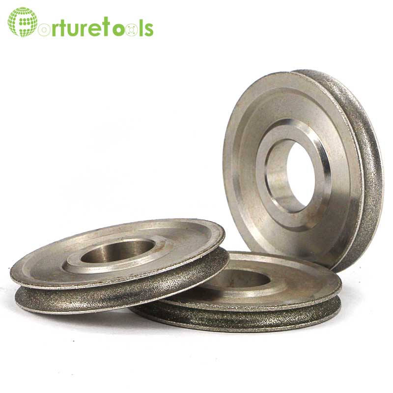 1 piece Electroplated diamond coated abrasive grinding wheel of round n straight edge for 3~12mm glass shape edging machine TZ74 high quality inner segmented diamond wheel 150 8 10 abrasive wheel for glass straight edge machine and double edge machine