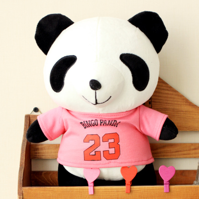 lovely giant panda about  70cm plush toy T-shirt dress panda doll soft throw pillow, Christmas birthday gift x023 cute cartoon ladybird plush toy doll soft throw pillow toy birthday gift h2813