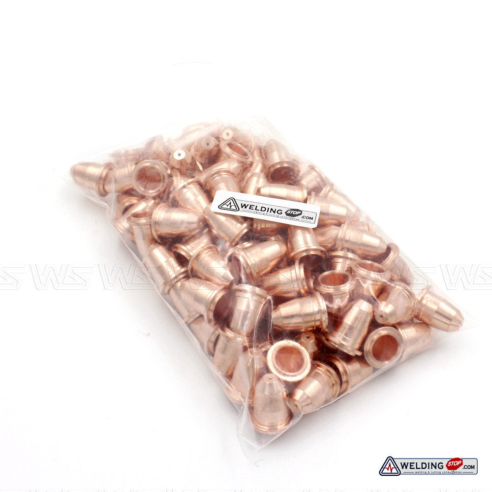 100pcs Plasma Cutter Torch Nozzle Tips PD0116-08 Fit Trafimet Plasma Torch S45 trafimet s45 30a consumables kit 27pk with spacer retaining cap nozzle electrode swirl ring pr0110 pd0116 08 pe0106 pc0116