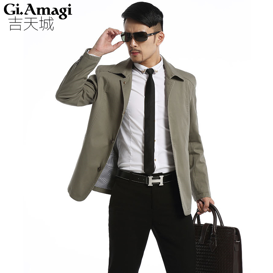 Men Jackets Jackets And Coats Spring Autumn Men S Jackets Turn Down Collar Overcoat Middle Aged