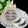 El Envío más rápido de visón del latigazo del ojo de extensión de pestañas falsas del maquillaje de las pestañas 3D 3D marca de pestañas falsas pestañas falsas naturales