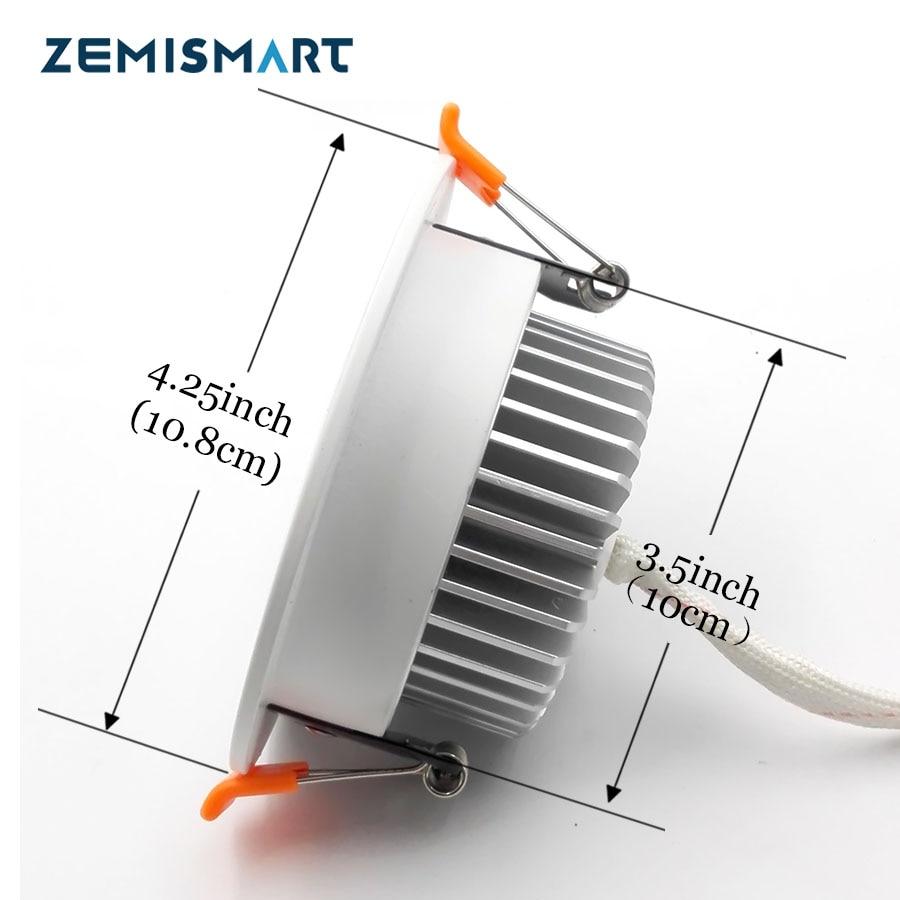 Zll Zigbee 30 Smart Rgbw Downlight Led Bulb Light Work With Amazon Wiring Diagram Alexa Plus Directly Echo And Dot Google Home By Hub Tech Gizmos