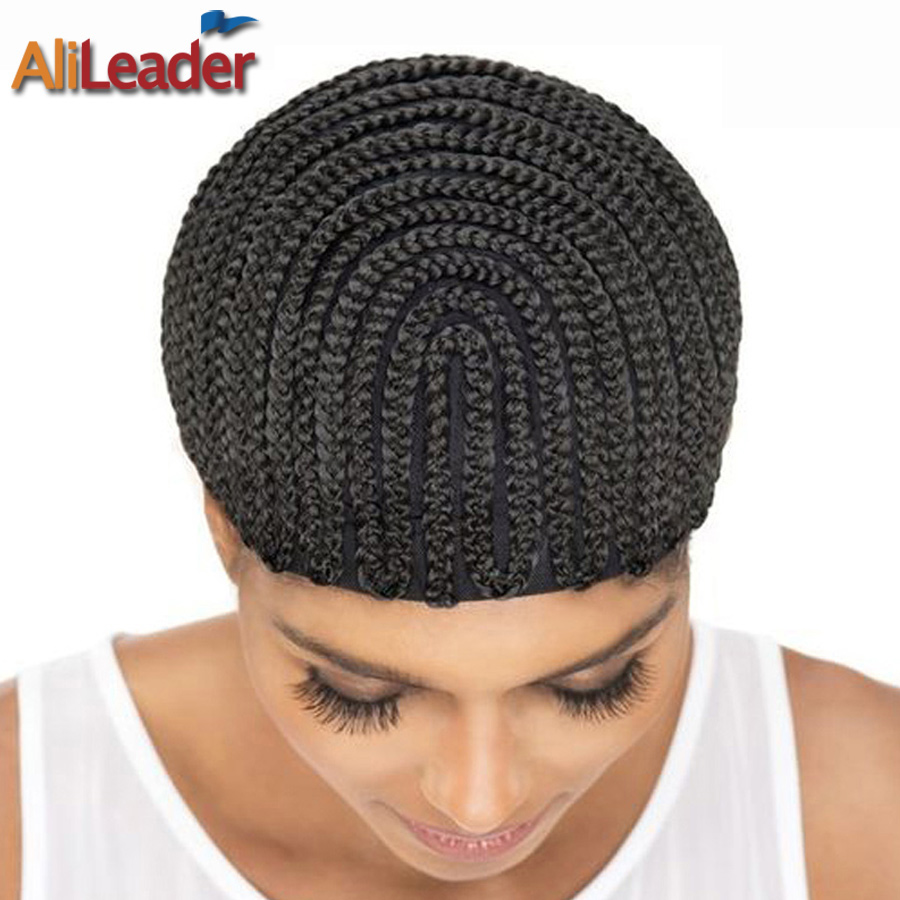 1-10Pcs Big Factory Product Quality Cornrow Wig Cap For Making Wig, Black Hairnet Crochet Wig Cap For Sew In, 2Pcs Wig Combs Ins