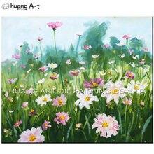 Картина маслом на холсте с изображением весеннего пейзажа