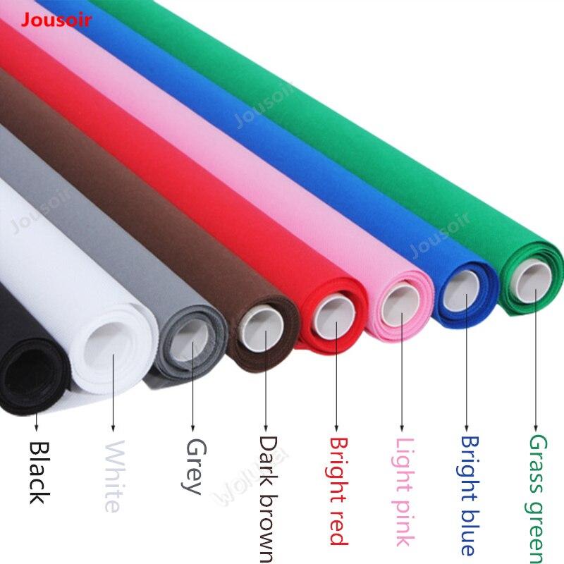 Solide multi-couleurs arrière-plans Non-tissé tissu de fond photographique largeur 3 m coloré photo d'identification CD50 T10